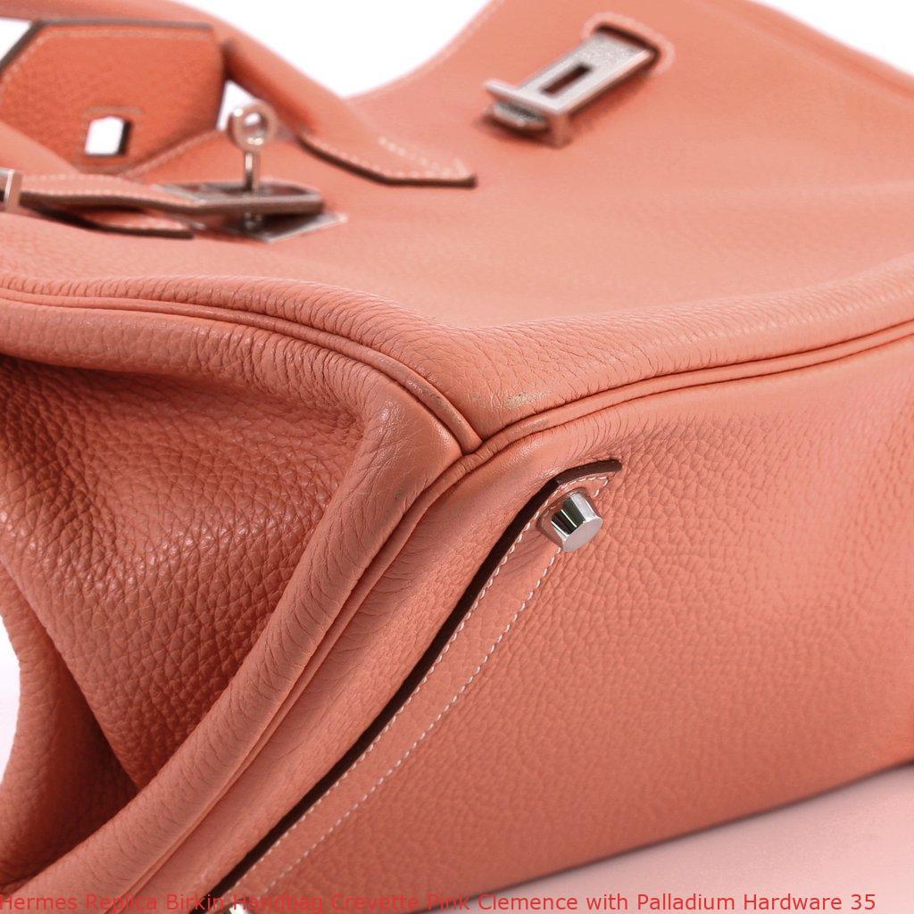 Hermes Replica Birkin Handbag Crevette Pink Clemence with Palladium  Hardware 35 eeaa20de2d673