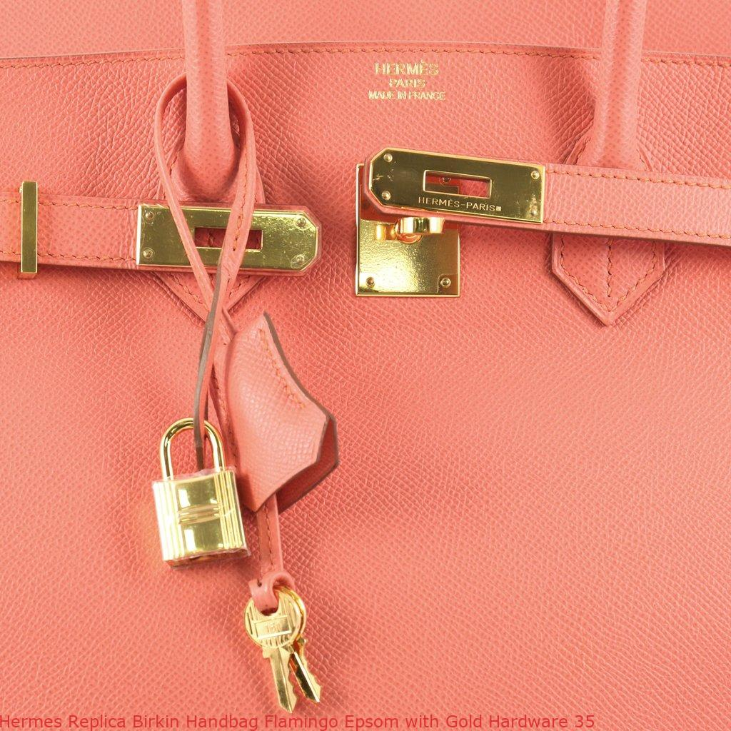 d870ea981a38 Hermes Replica Birkin Handbag Flamingo Epsom with Gold Hardware 35 – Replica  Hermes Birkin Bag