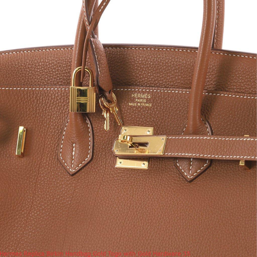901994507c Hermes Replica Birkin Handbag Gold Togo with Gold Hardware 35 ...