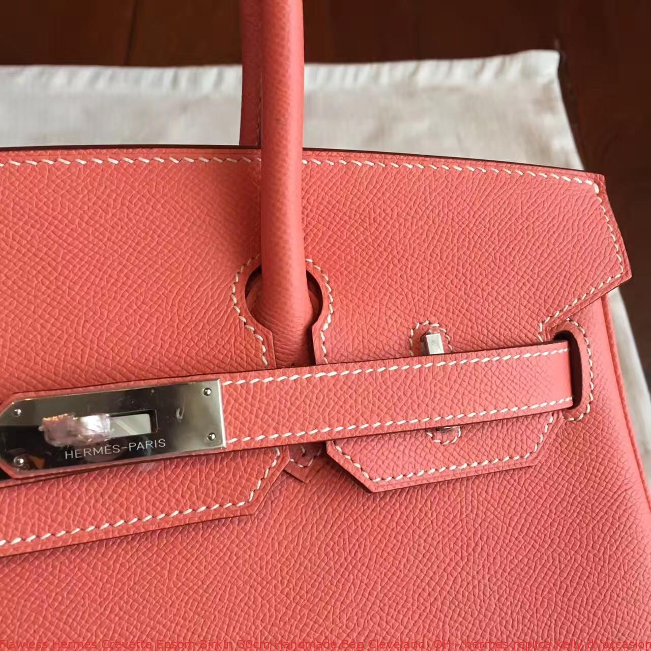 f4db724ff4 Flawless Hermes Crevette Epsom Birkin 30cm Handmade Bag Cleveland ...